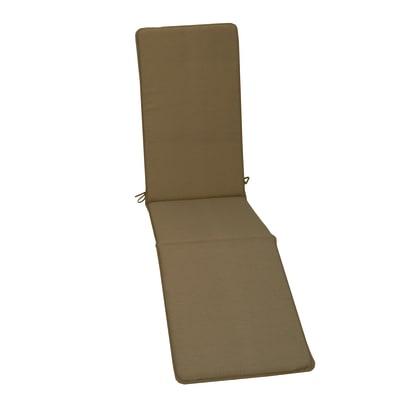 Cuscino poltrona con poggiapiedi tortora 44 x 179 cm