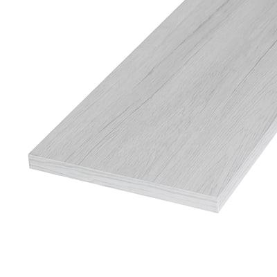 Pannello melaminico rovere bianco 18 x 600 x 1200 mm