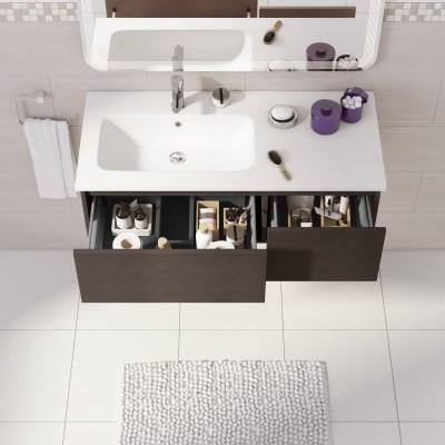 Mobile bagno Avril rovere L 100 cm