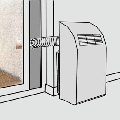 Pannello finestra per condizionatori portatili 460 x 300 x 360 mm