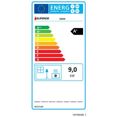 Stufa a Pellet Gioia 9 kW bordeaux