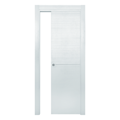 Porta da interno scorrevole Hollow bianco matrix 80 x H 210 cm reversibile