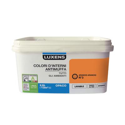 Idropittura lavabile Antimuffa Arancio Arancio 3 - 2,5 L Luxens