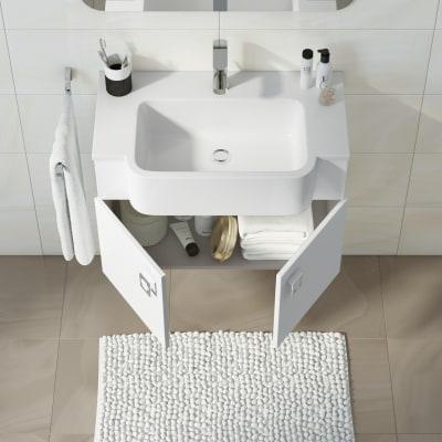 Mobile bagno Florida bianco L 70 cm