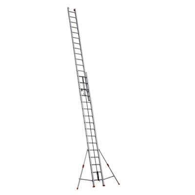 Scala con fune alluminio Facal 2x16 gradini, per lavori fino a 9,8 m