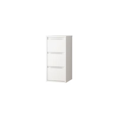 Semicolonna Loto bianco 3 cassetti L 35 x H 76 x P 35 cm
