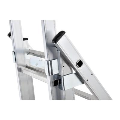Scala sfilo alluminio Gierre 3x9 gradini, per lavori fino a 6,2 m