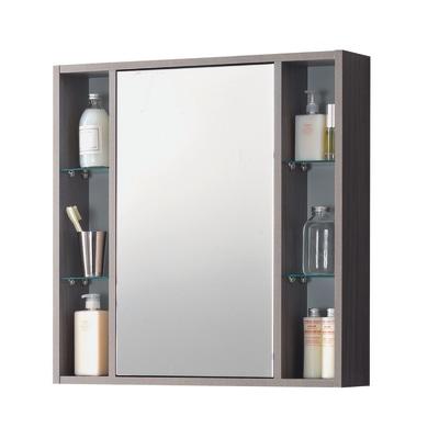 Armadietto a specchio Lucky L 74 x H 75 x P  16 cm rovere