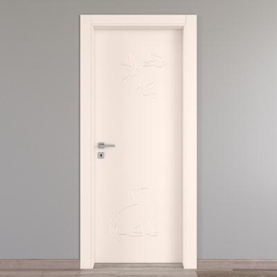 Porta da interno battente Catbird crema 80 x H 210 cm dx