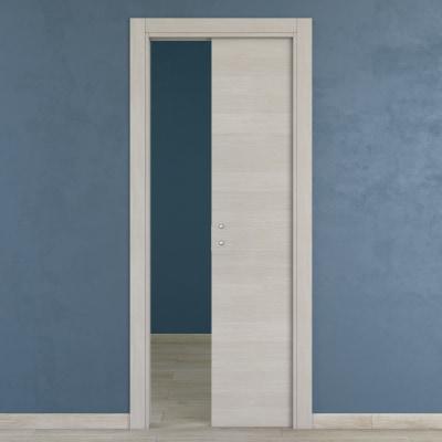 Porta da interno scorrevole One ecrù 60 x H 210 cm reversibile