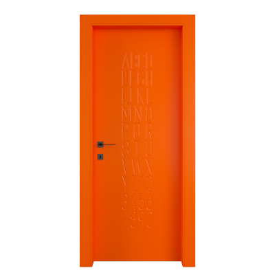 Porta da interno battente Keyboard orange arancio 80 x H 210 cm dx
