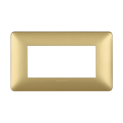 Placca 4 moduli BTicino Matix gold