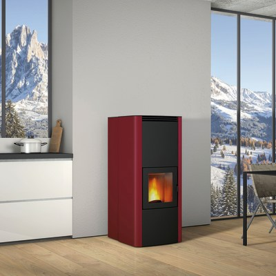 Termostufa a Pellet Superior Tamara TH 19,6 kW bordeaux