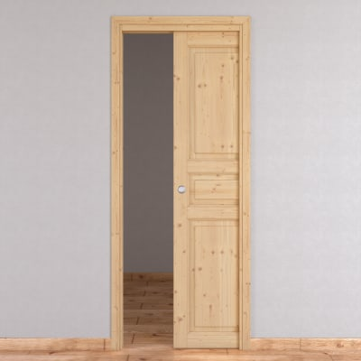 Porta da interno scorrevole Beethoven grezza 90 x H 210 cm reversibile