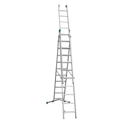 Scala sfilo alluminio Facal 3x11 gradini, per lavori fino a 5,3 m