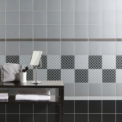 Piastrella Astuce 19,7 x 19,7 cm grigio