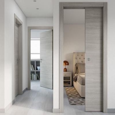Porta da interno battente Cambridge 90 x H 210 cm reversibile