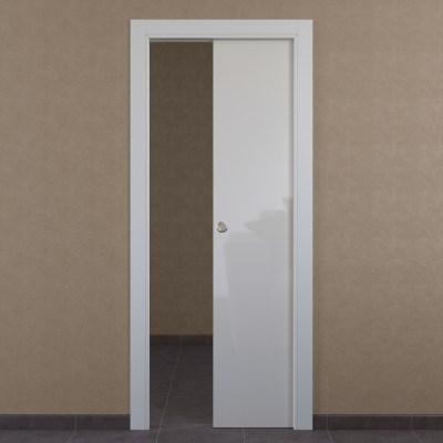 Porta da interno scorrevole Massaua white bianco 80 x H 210 cm reversibile