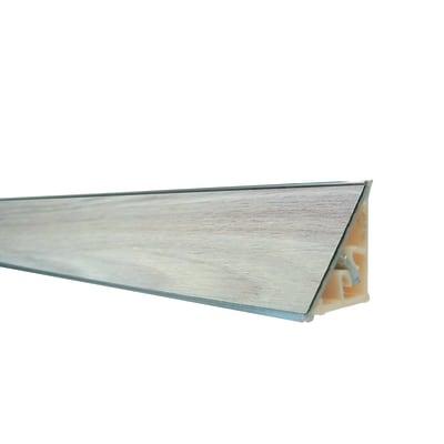 Alzatina alluminio marrone L 300 x H 2,7 cm