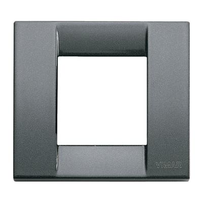Placca 2 moduli Vimar Idea antracite metallizzata