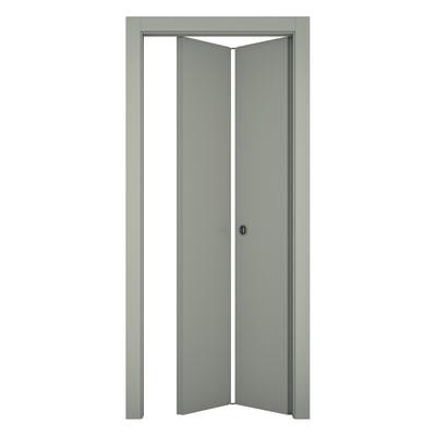 Porta da interno pieghevole Cinder grigio 70 x H 210 cm sx