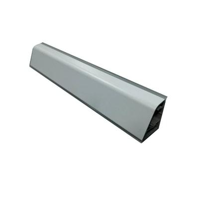 Alzatina su misura Beton laminato grigio H 10 cm