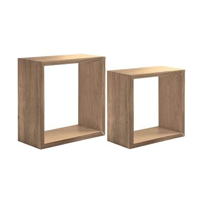 Set 2 cubi Spaceo rovere naturale, sp 2,2 cm