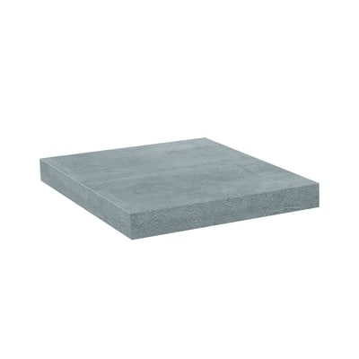 Mensola Pop effetto cemento L 20 x P 25, sp 2,5 cm