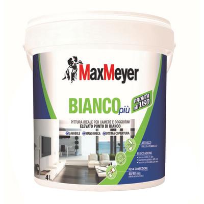Idropittura lavabile bianca Max Meyer Bianco Più 4 L