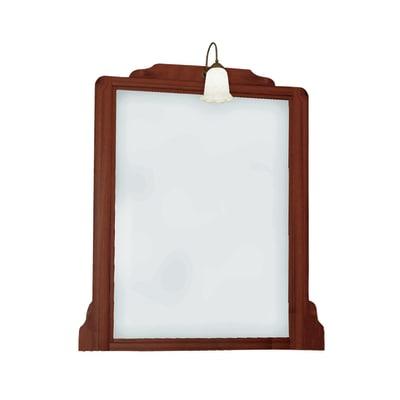 Specchio con faretto Laura noce 100 x 113 cm