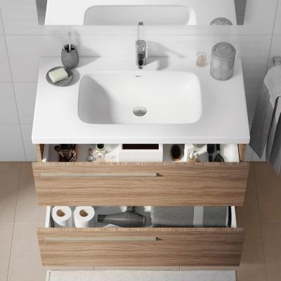 Mobile bagno Elea rovere L 91 cm
