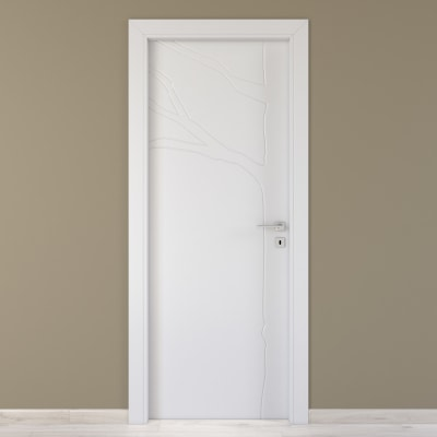 Porta da interno battente Wild bianco 60 x H 210 cm sx