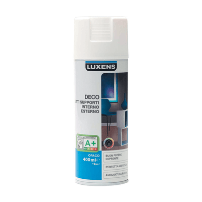 Smalto spray Deco Luxens Bianco Bianco opaco 400 ml