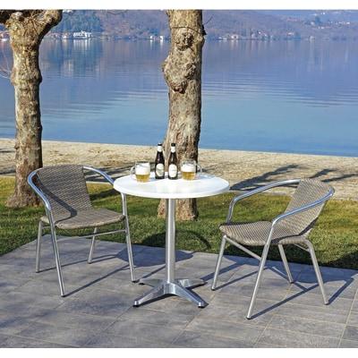 Struttura tavolo in alluminio, H 72 cm