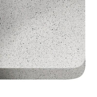 Alzatina su misura Blanco stellar quarzo bianco H 6 cm
