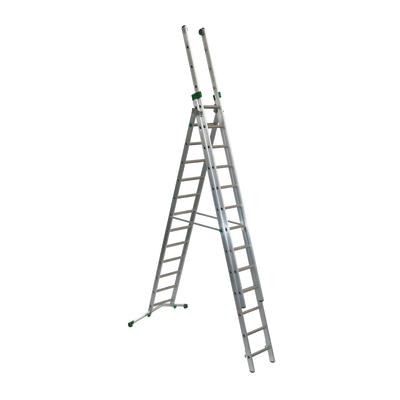 Scala sfilo alluminio Facal 12+13+13 gradini, per lavori fino a 10,8 m