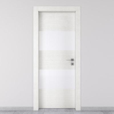 Porta da interno battente Melangè bianco 90 x H 210 cm sx