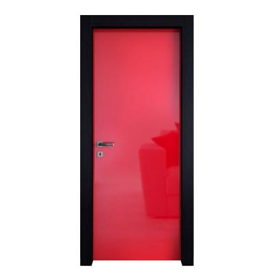Porta da interno battente Dalì rosso lucido 70 x H 210 cm dx
