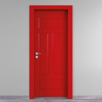 Porta da interno battente Coconut Groove rosso 60 x H 210 cm dx