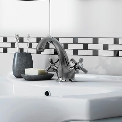 Mobile bagno Ginevra grigio L 81 cm
