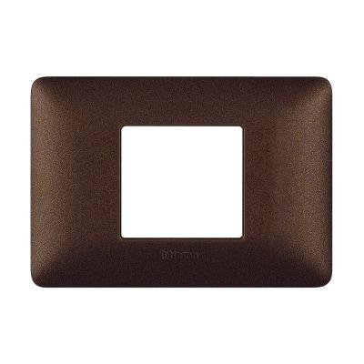 Placca 2 moduli BTicino Matix marrone caffè