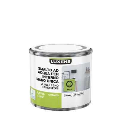 Smalto manounica Luxens all'acqua Verde Bali 3 satinato 0.125 L