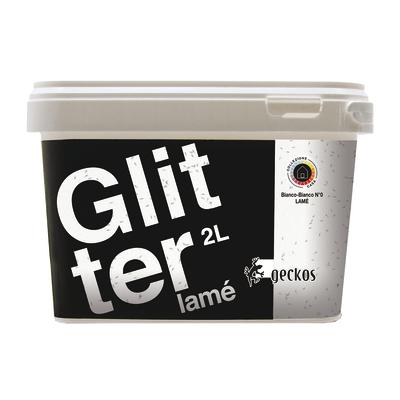 Pittura ad effetto decorativo Glitter Lamé Bianco Bianco 2 L