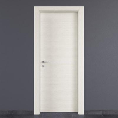 Porta da interno battente Hollow bianco matrix 90 x H 210 cm dx