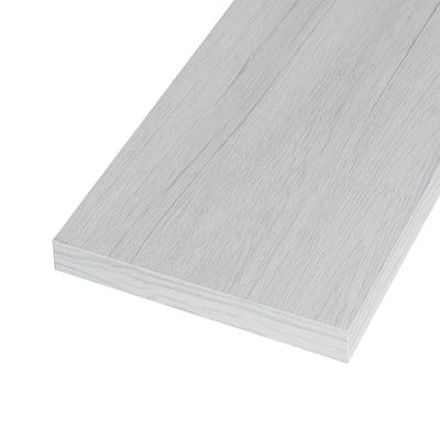 Pannello melaminico rovere bianco 25 x 600 x 1000 mm