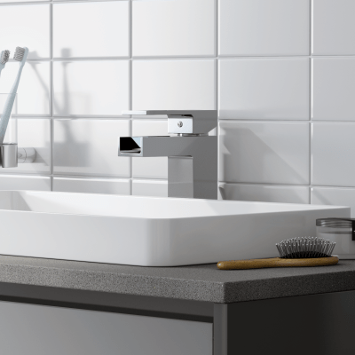 Mobile bagno Loto grigio antracite con frontale in vetro L 60 cm
