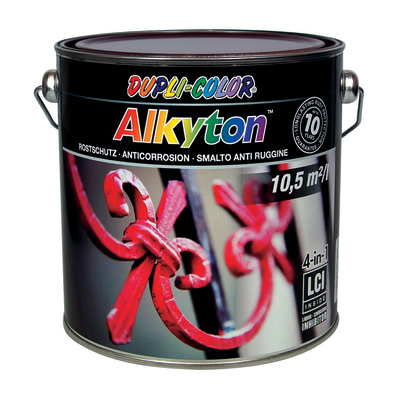 Smalto per ferro antiruggine Alkyton marrone RAL 8017 brillante 2,5 L