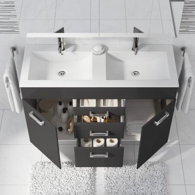 Mobile bagno Opale grigio antracite L 120 cm