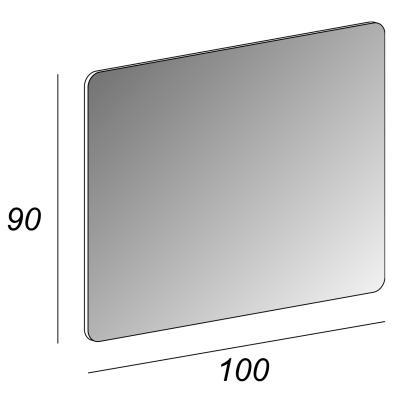 Specchio Compact 100 x 90 cm