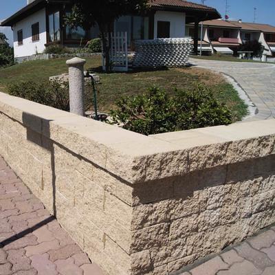 Muretto Antico giallo lessinia bancale da 5.52 mq in cemento